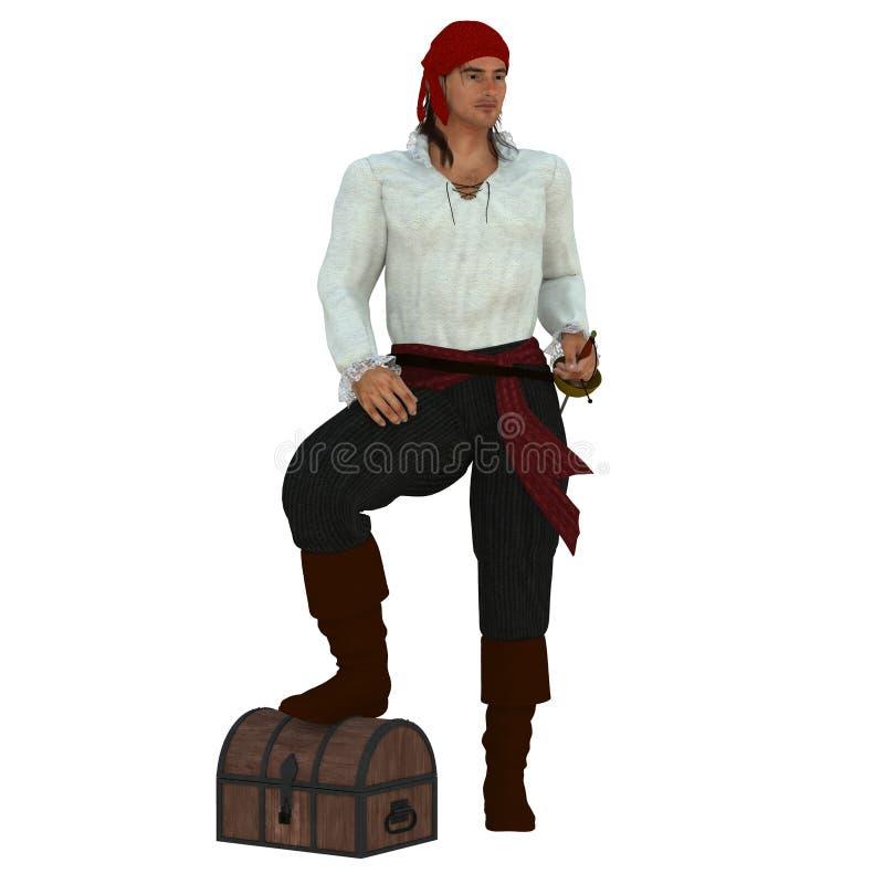 kaptenen piratkopierar arkivbild