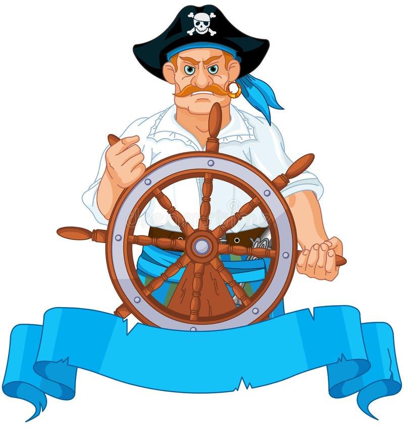 kaptenen piratkopierar vektor illustrationer