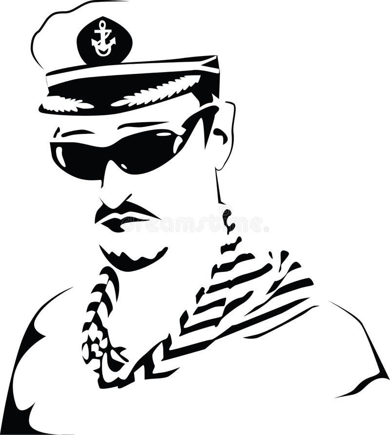 kaptenhavsvektor arkivbilder