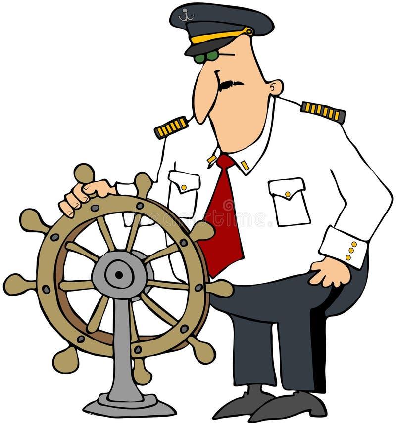 kaptenhjul royaltyfri illustrationer
