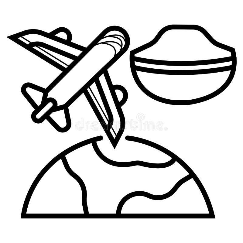 Kaptensymbolsvektor stock illustrationer