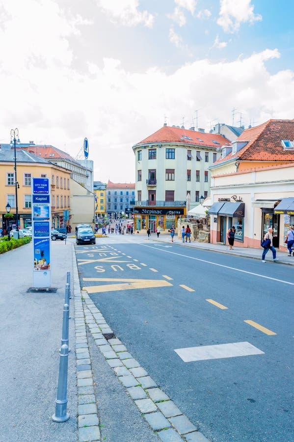 Kaptol em Zagreb imagens de stock royalty free