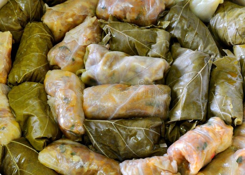 kapuścianej kuchni kapuściany sarmale faszerujący zdjęcie stock