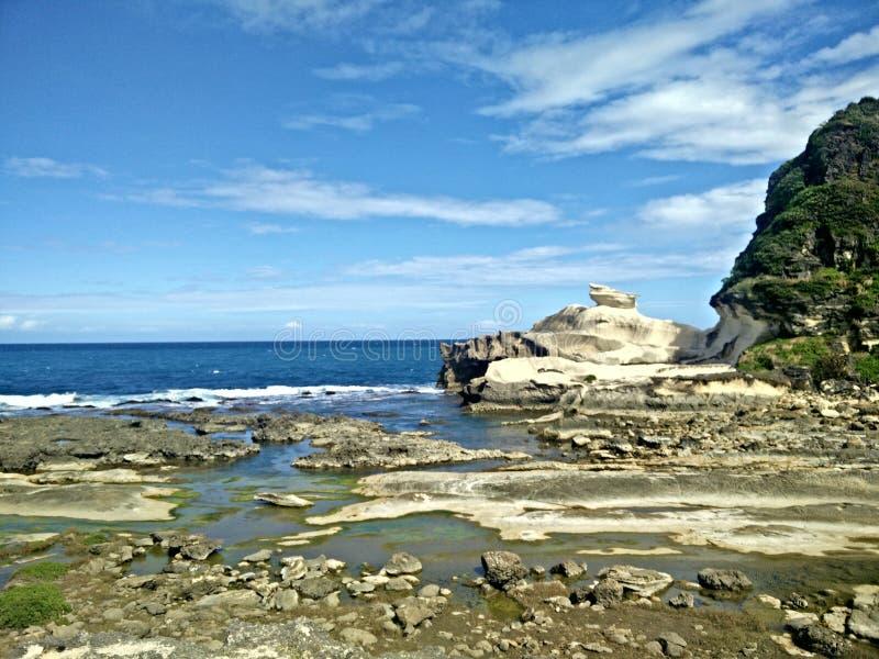 Kapurpurawan Rock Formation royalty free stock image