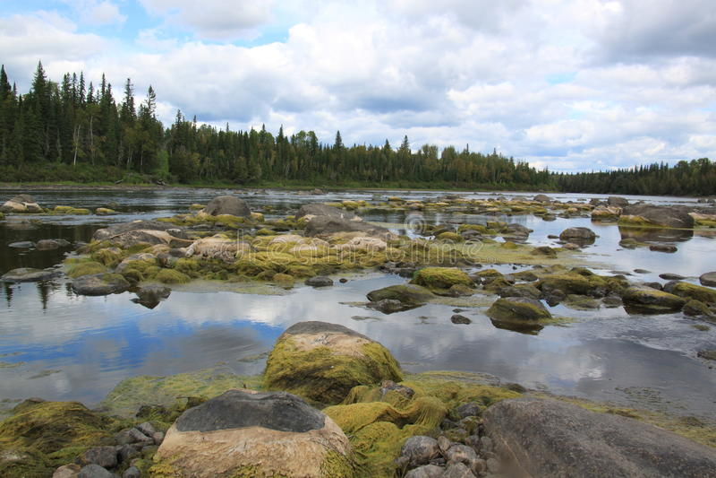 kapuskasing flod royaltyfri bild