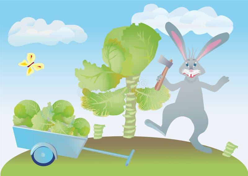 Download Kapusta Sieka Zajęczego Wesoło Królika Ilustracji - Ilustracja złożonej z cieszy, kotleciki: 13326546