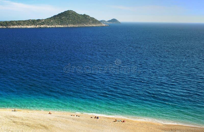 Kaputas Beach, Mediterranean coast, Turkey royalty free stock photography