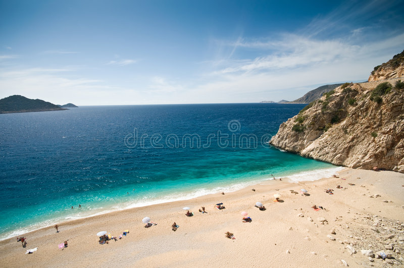 Kaputas beach in the Turkish Mediterranean stock image