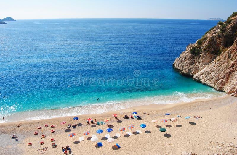 Kaputas-Strand auf der Mittelmeerküste von der Türkei stockbild