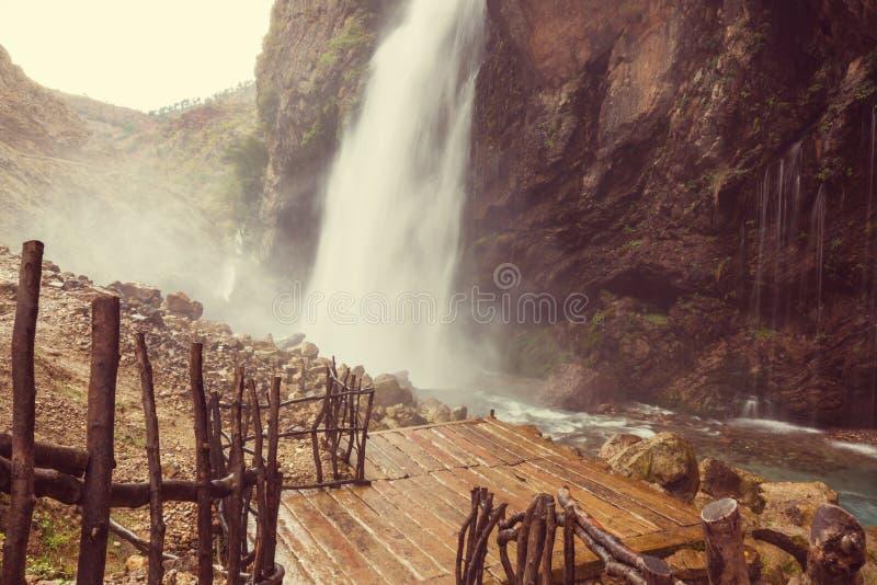 Waterfall in Turkey. Kapuzbasi waterfall, Kayseri province, Turkey royalty free stock images
