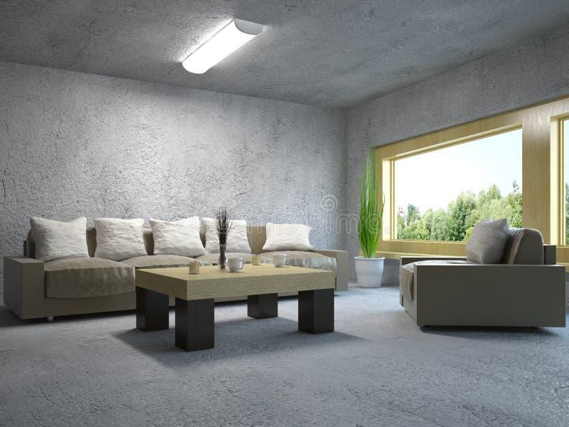 karła dogodnie wewnętrzna kanapa wewnętrzny ilustracja wektor