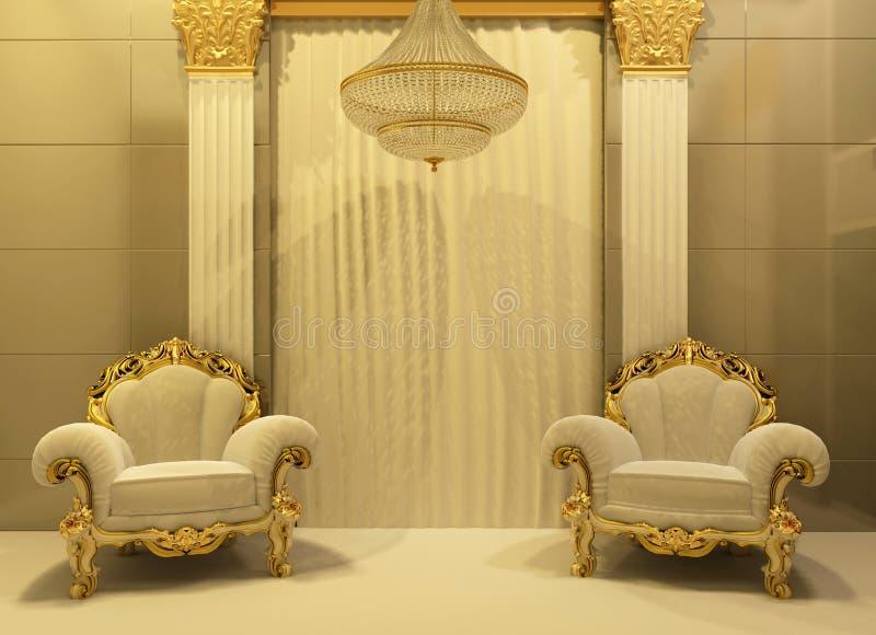 karła królewski wewnętrzny luksusowy obraz royalty free