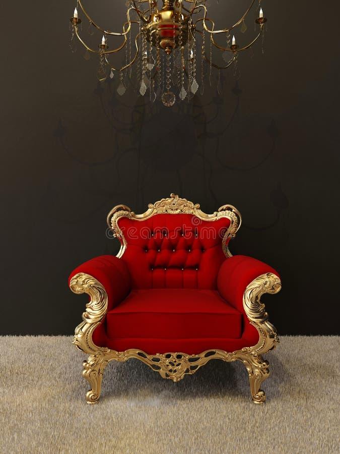 karło świecznik obramia złotego luksus ilustracji