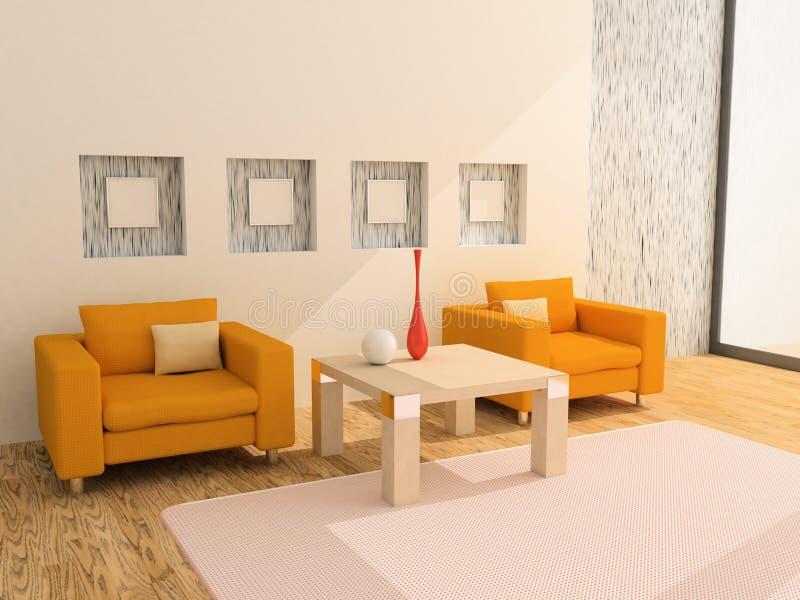 karło stół s dwa royalty ilustracja