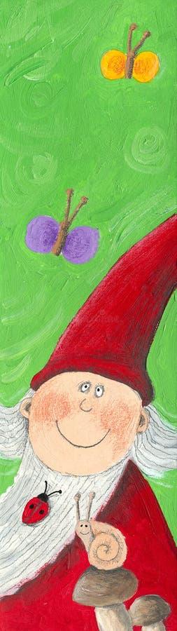karłowaty śmieszny ogród ilustracja wektor