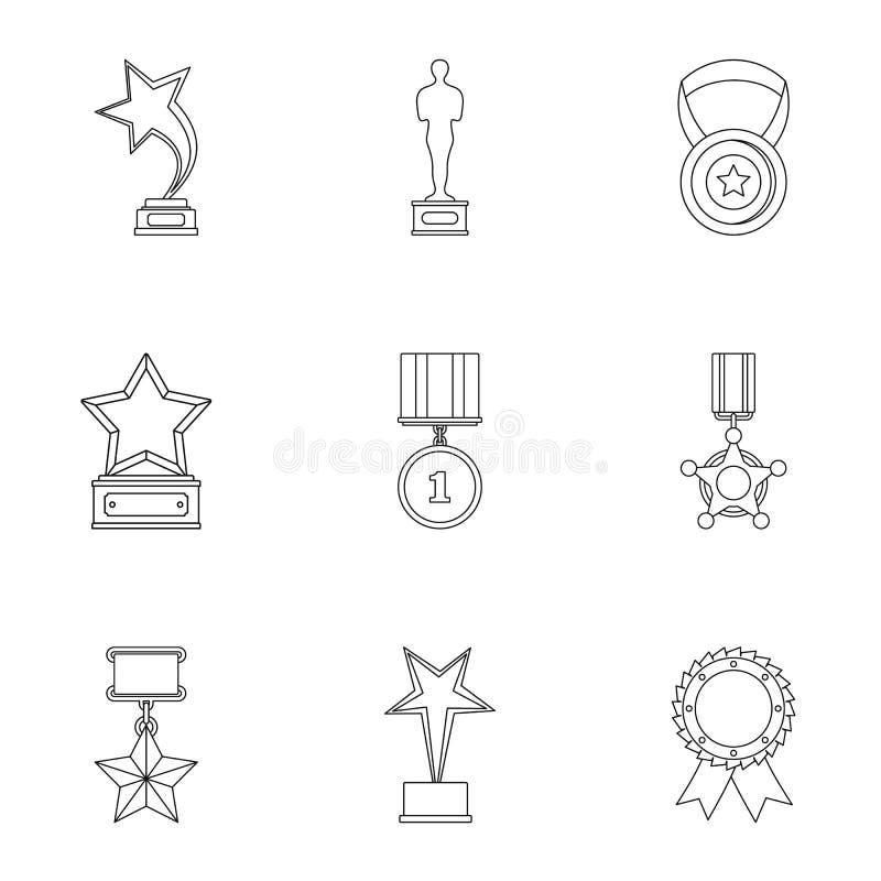 Kar ikony ustawiać, konturu styl ilustracji
