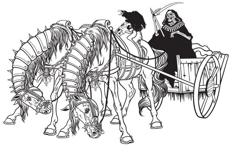 Kar van dood vector illustratie