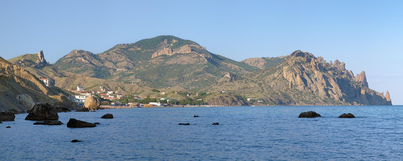 Kara Dag Mountain in Crimea, Ukraine royalty free stock image