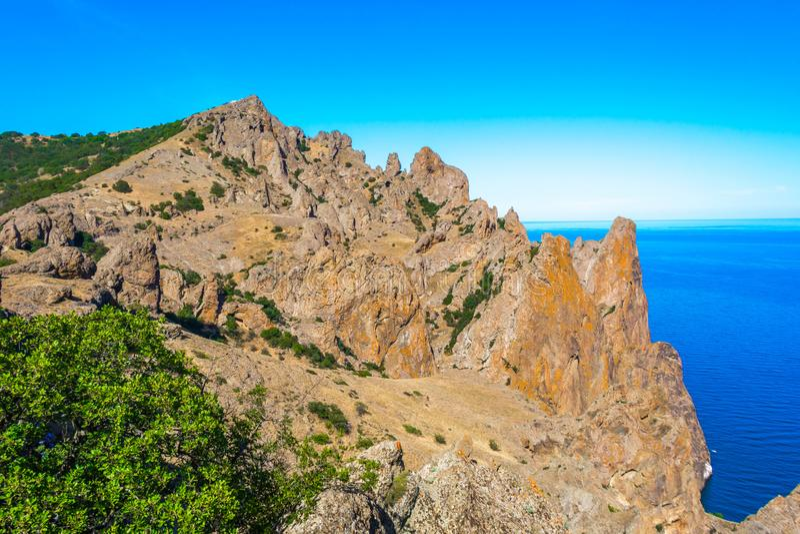 Kara-Dag Nature Reserve stock photo