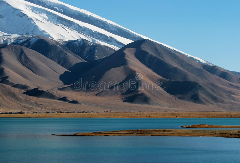 Kara-Kul lake royalty free stock photo