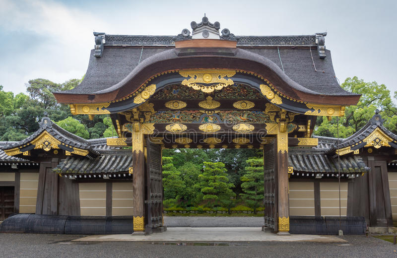 Kara-mon Gate of Nijo Castle. royalty free stock photography
