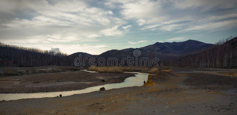 Karabash de industriële woestijn royalty-vrije stock afbeeldingen