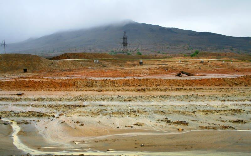 Karabash industrial desert. Dead ground of Karabash industrial desert, Russia stock photos