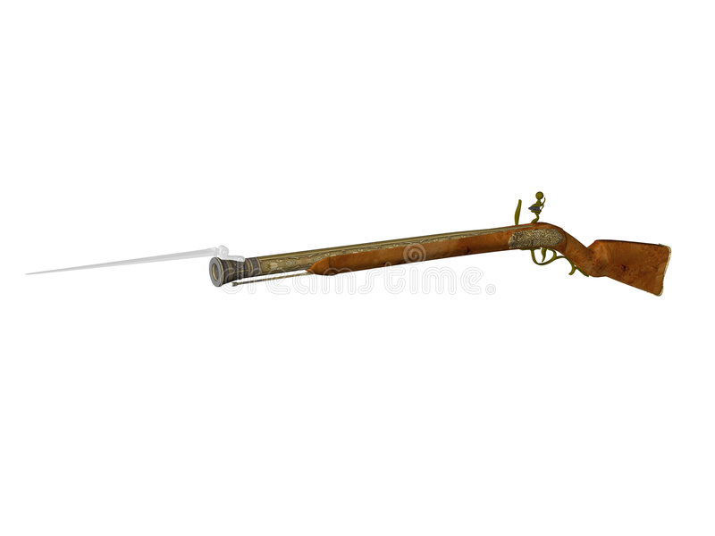 karabin flintlock obraz royalty free