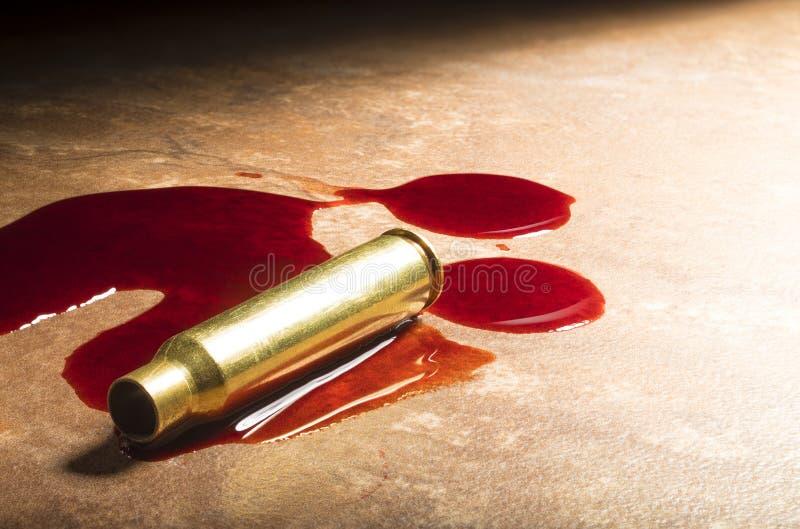 Karabin szturmowy krew i ammo obrazy stock