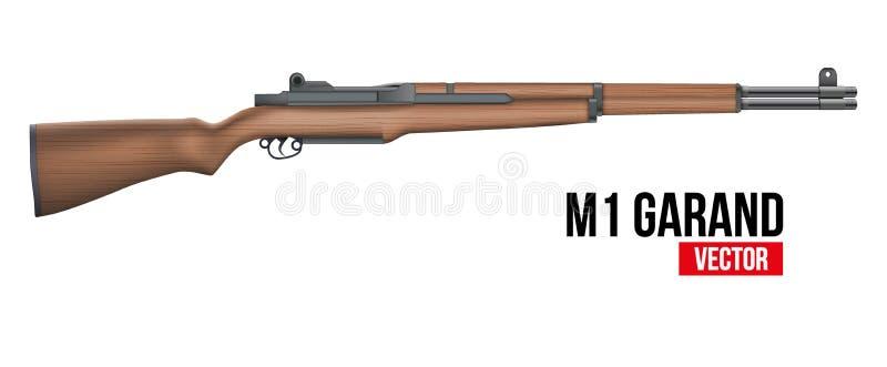 Karabinu M1 Garand wektor royalty ilustracja