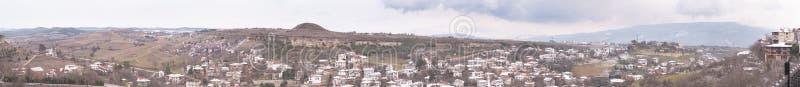 KARABUK,土耳其- 2016年1月21日:市番红花城 老镇保存与1008的许多老大厦登记了历史arti 免版税库存图片