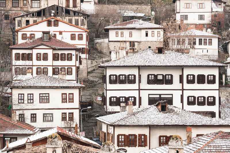 KARABUK, TURKEY - JAN 21, 2016: City of Safranbolu. The old town preserves many old buildings with 1008 registered historical arti royalty free stock photo