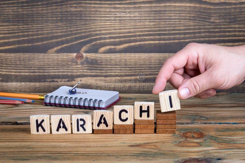 Karachi en stad i Pakistan var många miljoner av folk bor arkivfoto
