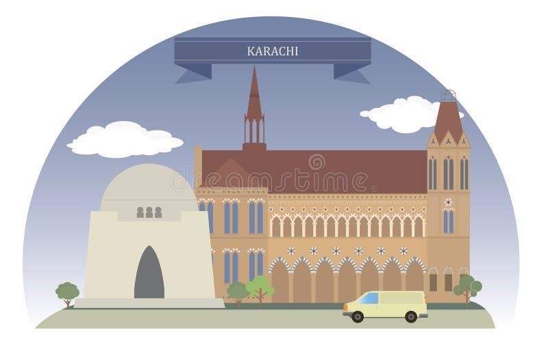 Karachi, Pakistan royalty-vrije illustratie