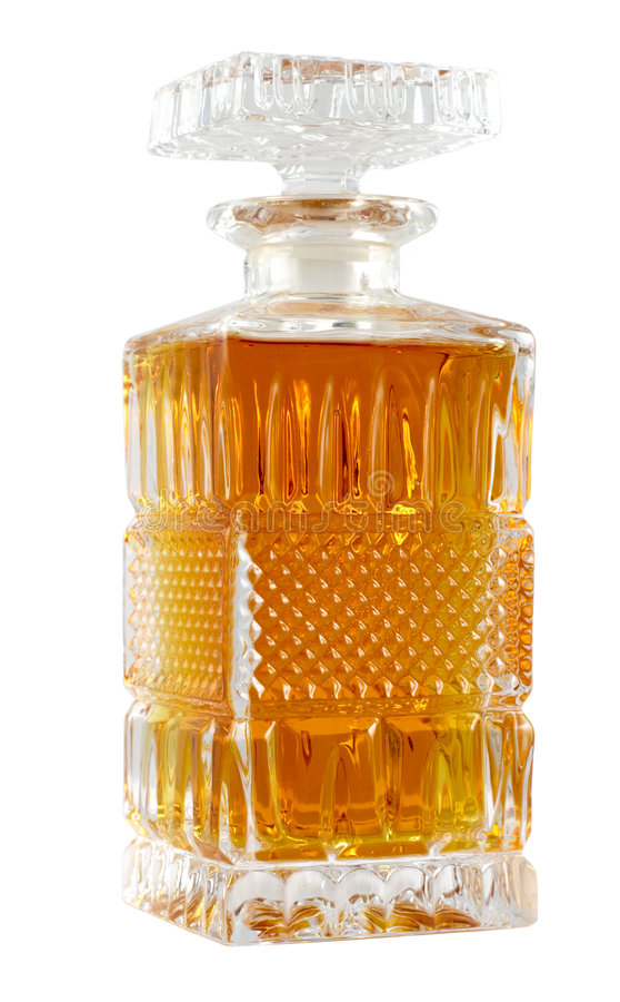 Karaf met whisky stock foto