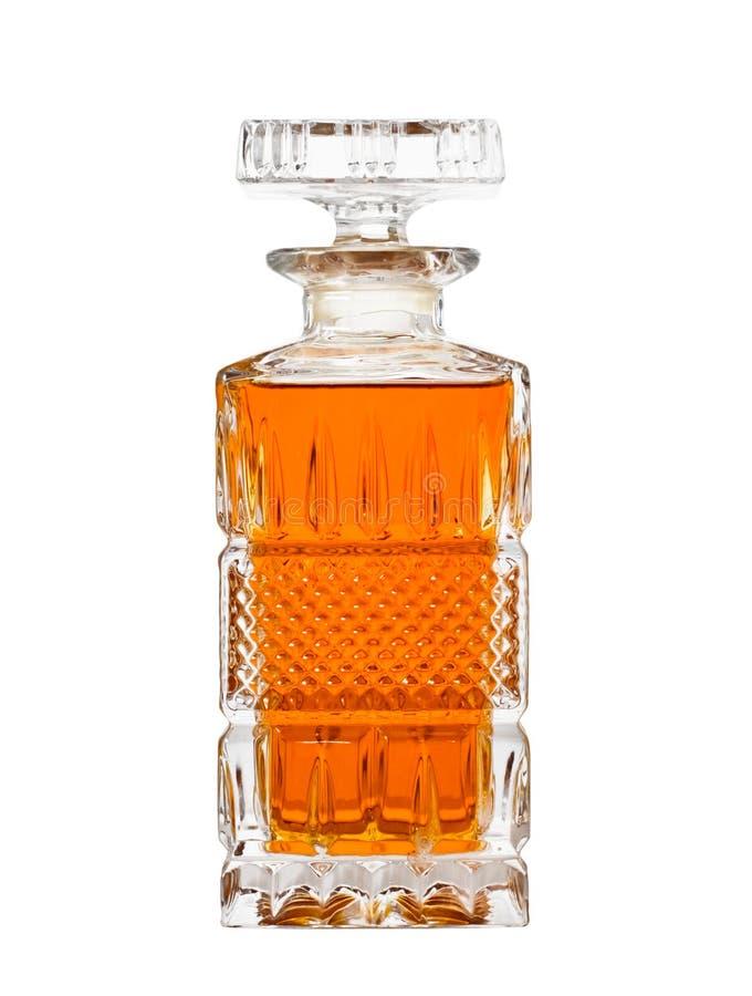 Karaf met whisky royalty-vrije stock afbeeldingen