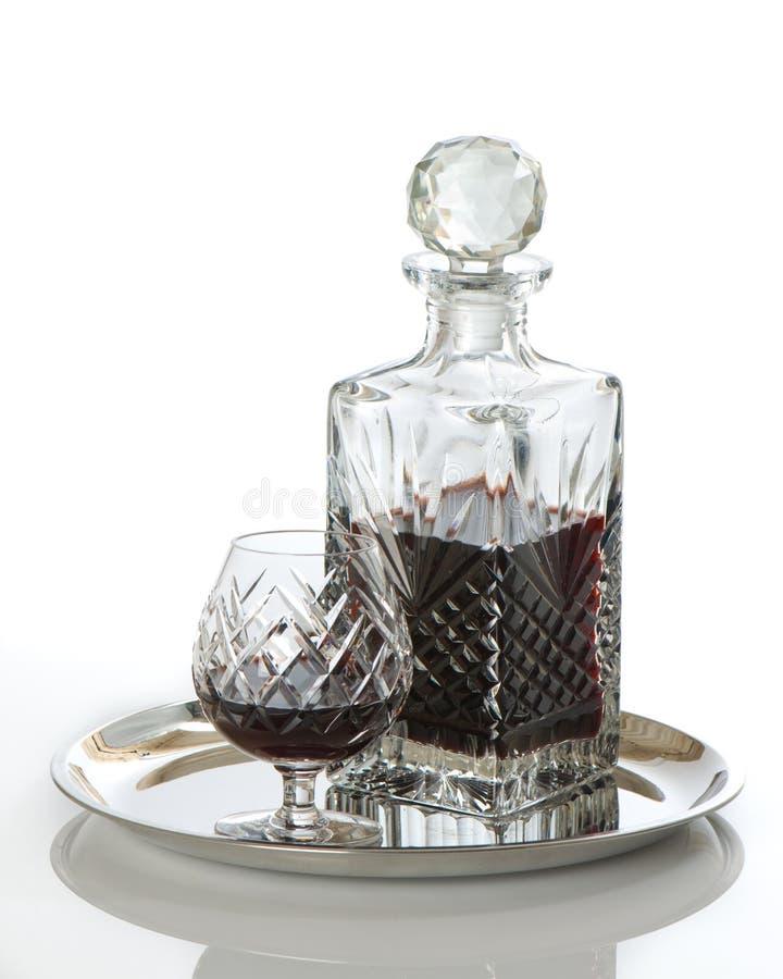 karaffexponeringsglasrom royaltyfri bild