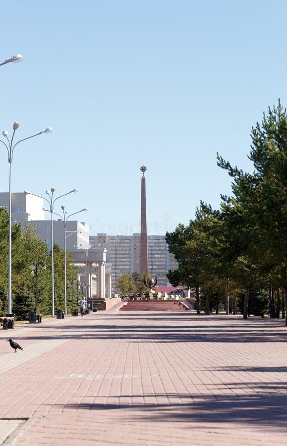 Karaganda, Казахстан - 1-ое сентября 2016: Победа Стеллы Установите стоковое изображение rf