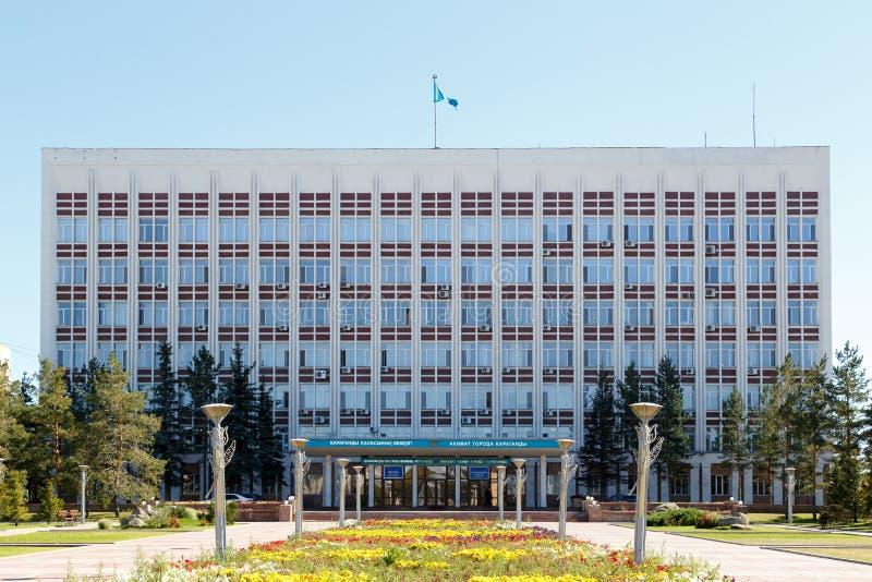 Karaganda, Cazaquistão - 1º de setembro de 2016: Akimat de Karaganda fotos de stock