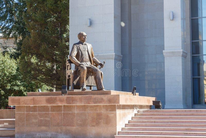 Karaganda, Cazaquistão - 1º de setembro de 2016: Monumento KS Stanislav imagens de stock royalty free