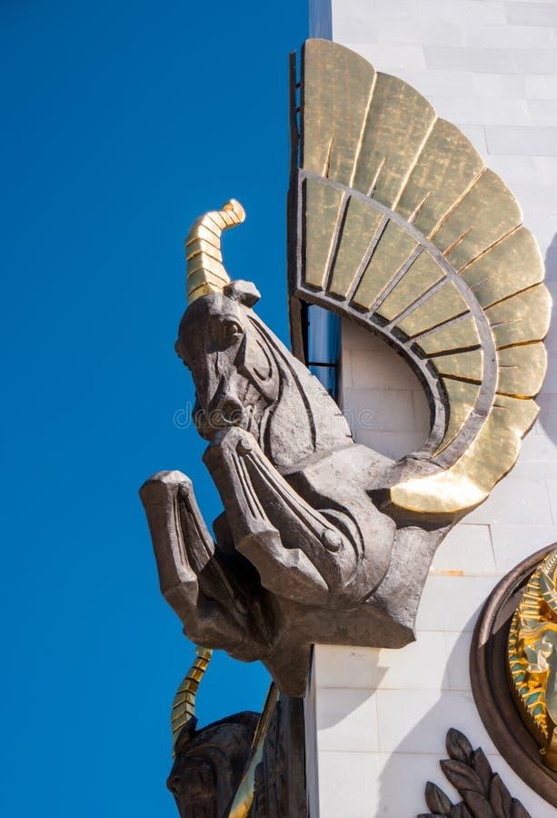 Karaganda Kazachstan, Wrzesień, - 1, 2016: Szczegół Monumen obraz royalty free