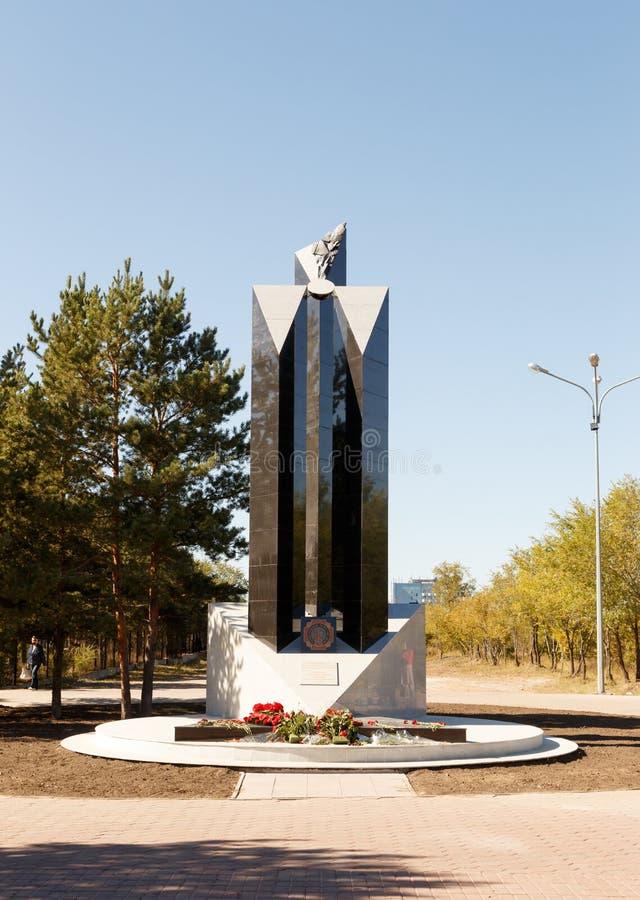 Karaganda Kazachstan, Wrzesień, - 1, 2016: Zabytek ona obrazy royalty free