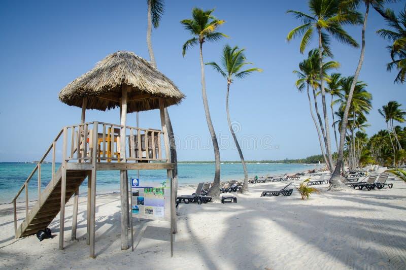 Karaibska Bavaro plaża w Punta Cana obraz stock