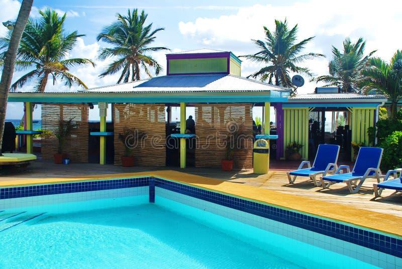 Karaibski kurortu basen fotografia royalty free