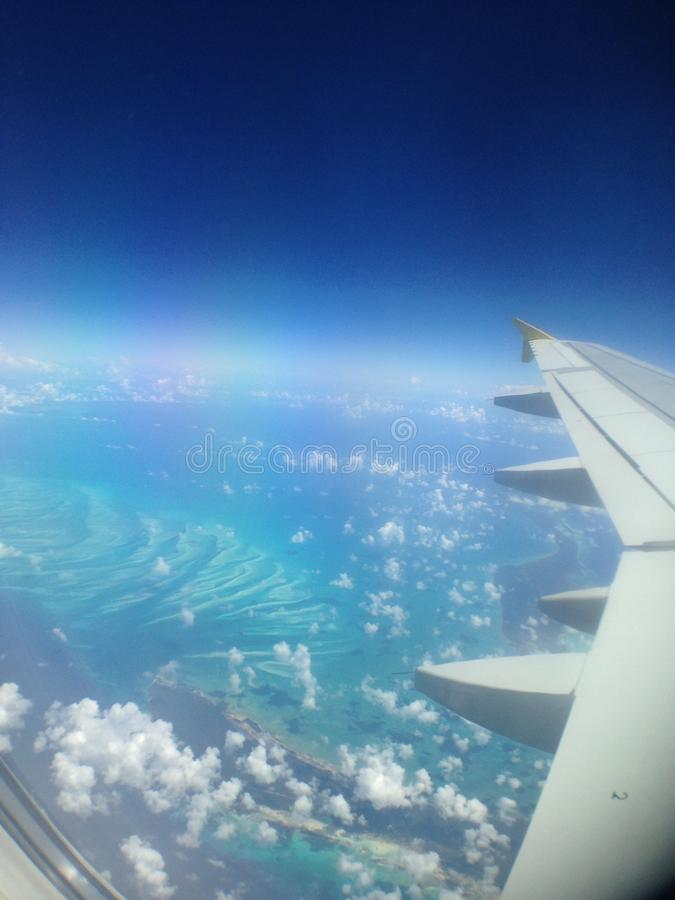 Karaiby samolotu przejażdżka zdjęcia stock