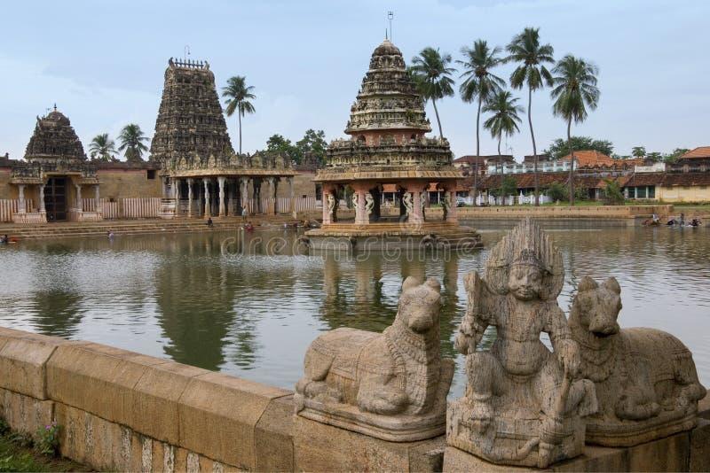 Karaikudi - Chettinad - Tamil Nadu - India. Pillaiyarpati Hindu temple in the village of Karaikudi in the Chettinad area of the Tamil Nadu region of Southern royalty free stock photo