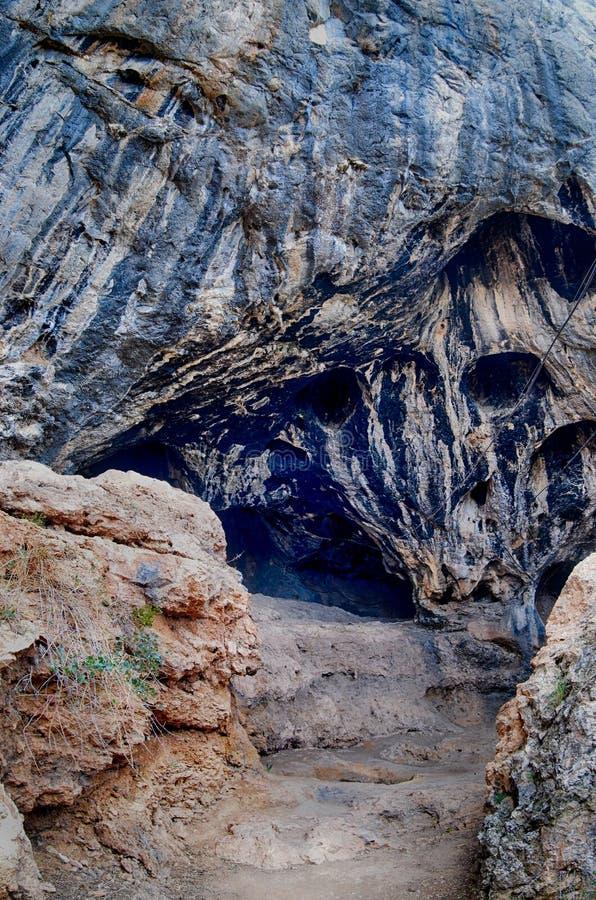 Karain Höhle. Paläolithisch lizenzfreie stockbilder