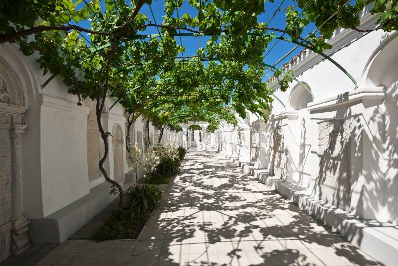 Karaite kenesa。 Yevpatoriya,克里米亚。 免版税库存图片