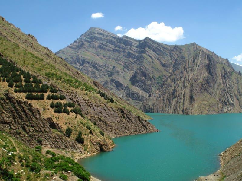 Karaj Lake royaltyfri bild