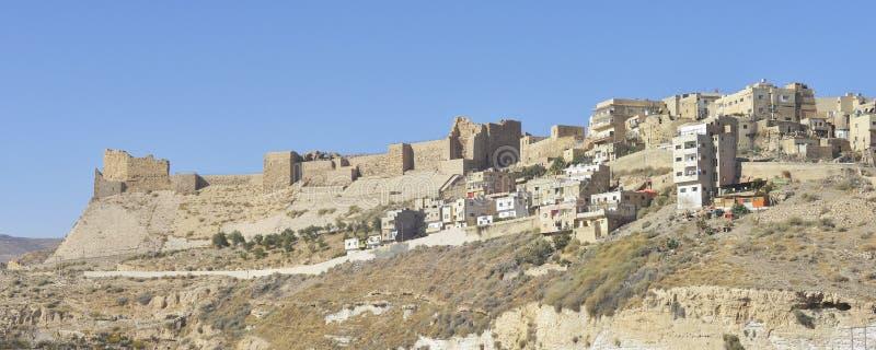 Karak, Jordan. Ancient Ruins of The Crusader Castle of Kerak in Al-Karak, Jordan stock photo